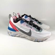Nike Element 55 Blue Hero Silver White Running Shoes Ck4462-100 Womens Size 9.5 Photo