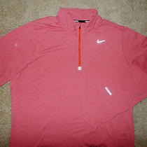 Nike Element Dri-Fit 1/2 Zip Long Sleeve Heather Red Running Shirt Mens Xl  Photo