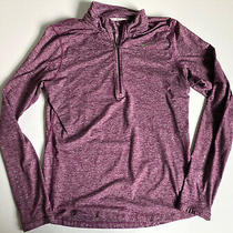 Nike Element Dri-Fit 1/4 Zip Womens Running Long Sleeve Heathered Purple Med Photo