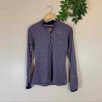 Nike Element Dri-Fit Purple Space Dye Long Sleeve 1/4 Zip Jacket Shirt Women's Photo