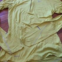 Nike Element Dri-Fit Top Long Sleeve 1/4 Zip Pullover Size Women's Xs Yellow Photo