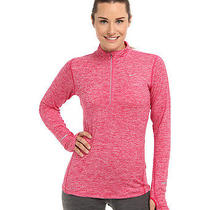 Nike Element Dry Fit Half Zip Pullover Fireberry Red Small Photo