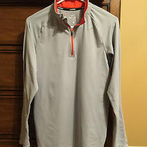 Nike Element Fit Dry 1/4 Zip L/s Reflective Running Top Shirt Men's Small Gray Photo