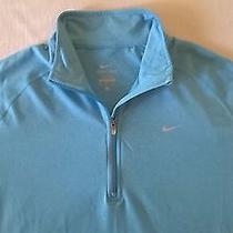 Nike Element Half Zip Running Dri-Fit Long Sleeve Top Mens Size Xl Shirt Blue Photo