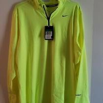 Nike Element Men's Pullover Jacket Bright Yellow Size Xl New Nwt Photo