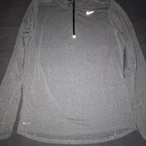 Nike Element Mens Running Dri-Fit Grey Long Sleeve Athletic Shirt Size M Euc Photo