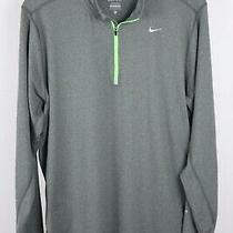Nike Element Mens Xl Grey Neon 1/4 Zip Running Pullover  Photo