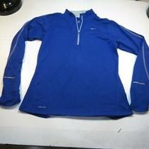 Nike Element Running Dri Fit 1/4 Zip Sweatshirt Shirt Sz M Reflective Thumbholes Photo