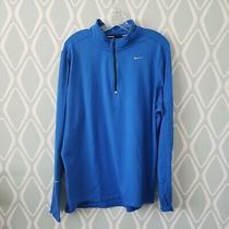 Nike Element Running Quarter Zip Pullover Blue Mens Athletic Shirt Xl  Photo