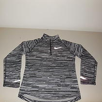 Nike Element Running Shirt Long Sleeve Black White Dri Fit Athletic Youth Small Photo