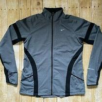 Nike Element Shield Full-Zip Women's Running Jacket Size L Dri-Fit Gray Photo