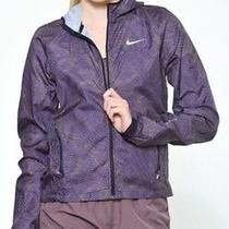 Nike Element Shield Running Jacket All Over Print Full Zip Womens Size Xs Photo