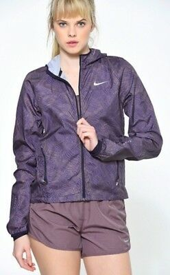 Nike Element Shield Running Jacket All Over Print Full Zip Women's Size XS Photo
