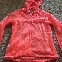 Nike Element Shield Running Jacket Orange Athletic Dots Large L Photo