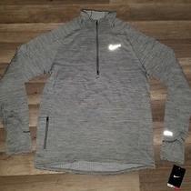 Nike Element Sphere Half-Zip Men's Running Shirt Gray 683906-066 Size M Photo