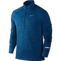 Nike Element Sphere Hz Squadron Blue Heather 1/4 Zip 683906 461 L Large Training Photo