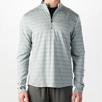 Nike Element Stripe 1/2 Zip Running Top Grey/heather Size Small Rrp 90 Photo