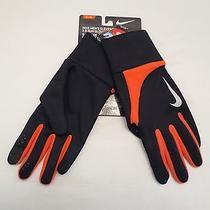 Nike Element Thermal 2.0 Run Gloves Running Mens Size Xl Black Orange Nwt Photo