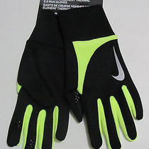 Nike Element Thermal 2.0 Running Gloves Black/volt New W/tags Men's Small Photo