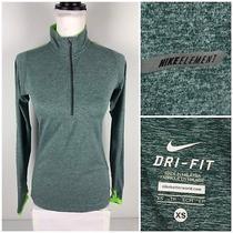Nike Element Womens Xs Pullover 1/2 Half Zip Running Lightweight 481320 357 Euc Photo