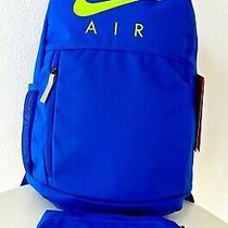 Nike Elemental 20l & Pencil Pouch Backpack Bag Blue Unisex School Set Nwt Photo