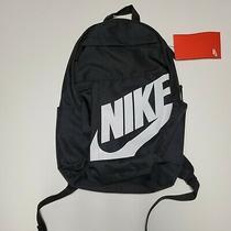 Nike Elemental Backpack Black White School Bag Futura Ba5876-082 New W Tag Photo