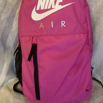 Nike Elemental Graphic Backpack Pink Fuchsia/white One Size Girls Kids Unisex Photo
