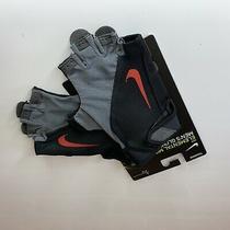Nike Elemental Midweight Fitness Gloves Black Red Training Mens Size Medium Photo