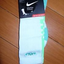 Nike Elite Crew Lebron Mint Green Sock Teal Green Aqua L 8-12 Neon South Beach Photo