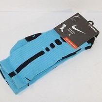 Nike Elite Dri-Fit Basketball Socks Gamma Blue/black Sx4586-400 Nwt Jordan Photo