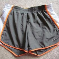 Nike Fit Dry Brown Orange White Shorts S Run Built in Briefs Sold as Is Photo