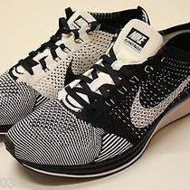 Nike Flyknit Racer Sz 8.5 Black White Free Ds New Running Shoes Trainer  Photo