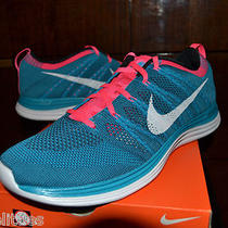 Nike Flyknit Trainer One Turqoise Ipod Running Shoes sz9.5men Woven Roshe Free Photo