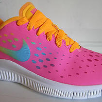 Nike  Free Express (Gs) Pink Girls Running Shoes 7y Photo