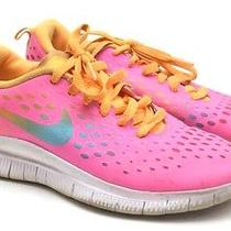Nike Free Express Running Athletic Sneakers Pink Rainbow Youth Girls Size 6.5 Photo