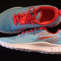 Nike Free Express Youth Unisex Running Shoes Light Blue 641866 400 Size 7 Photo
