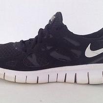 Nike Free Run 2 Black White Gs Boys Youth Size  5 Running Shoe Photo