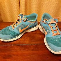 Nike Free Run 3 Womans Size 8.5 Us Sneakers Shoes Turquoise Orange Photo