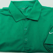 Nike Golf Dri-Fit Men's Short Sleeve Polo Shirt Sz M Medium Green Photo