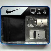 Nike Golf Slim Card Case Wallet Key Chain Money Clip Gift Set Black S9506400 Photo