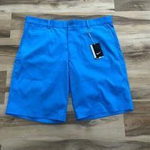 Nike Golf Tour Performance Shorts Men's Size 38  Dri-Fit Blue Flat Front Photo