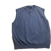 Nike Golf v-Neck Sweater Vest Large  - Blue Colored - 100% Cotton Photo