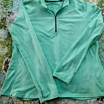 Nike Green Dri-Fit Element 1/4 Zip Pullover Running Jacket Shirt Women's Xl Photo