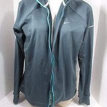 Nike Grey/blue Element Thermal Full Zip Running Jacket Sz Xl  Photo