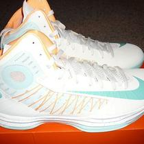 Nike Hyperdunk Plus  Mens White Aqua Orange South Beach Nib No Box Lid Sz 15 Photo