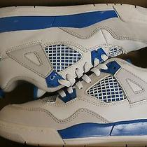 Nike Jordan 4 Retro 13c White/military Blue-Ntrl Grey Sneakers Photo