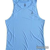 Nike Jordan All Season Fitted Basketball Tank Ncaa Exclusive Valor Blue/grey L Photo