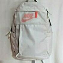 Nike Kids Elemental 2.0 Off White/coral Backpack (Ba5878-030) Nwt  Photo