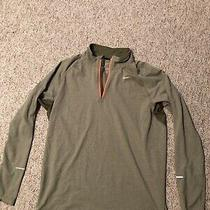 Nike Large Green Mens Running Drifit Element 1/4 Zip Shirt Army Green Photo