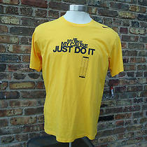 Nike Livestrong Tee Mens Large Yellow Me My Bike My Cause Just Do It Photo